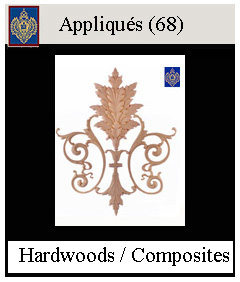 hand carved appliques and composite decorative items
