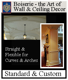 wall and ceiling mouldings called boiserie