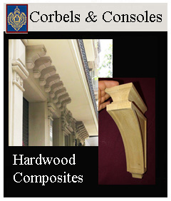 Corbels for cabinetry and kitchen and Consoles for Exterior buildings