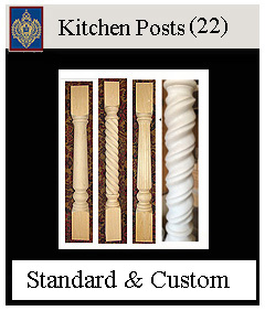 Kitchen posts for bars and cabinetry