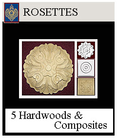 Rosettes - round and square for cabinetry and exterior decoration