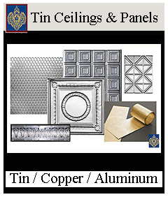 Imperial Tin Ceilings - Copper, Aluminum, Tin Cornice and panels