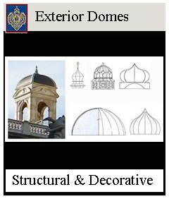 Fiberglass Decorative Exterior Domes