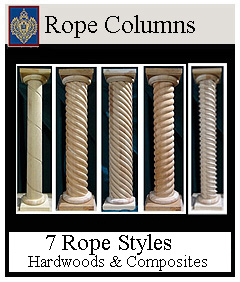 Rope Columns Custom Sizes 7 Styles from Imperial
