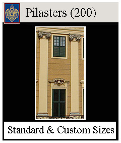 Pilasters for around doors and windows on wall interior & exterior facades