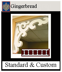 Custom Gingerbread gable ends, brackets