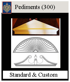 Pediments for above windows and doors - many style and custom sizes