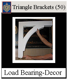 Triangle Brackets load bearing and decorative