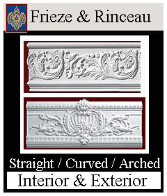 Frieze and Rinceau for Building exteriors