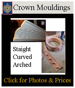 Arched and Curved Decorative Crown Mouldings