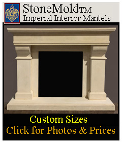 StoneMold Fireplace Mantels - custom sizes available