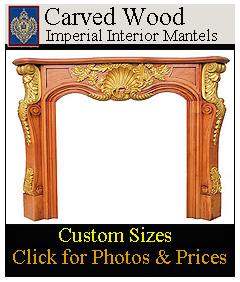 Custom Hand carved fireplace mantels